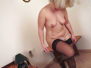 blonde fingering gilf hot