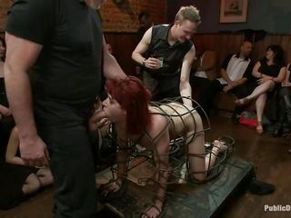 bdsm blowjob bondage cage