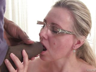 bbc behind blonde blowjob