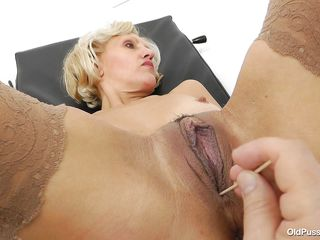 blonde czech doctor exam