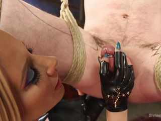 bitches blonde bondage clamps