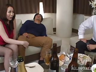 aoyama blowjob brunette busty