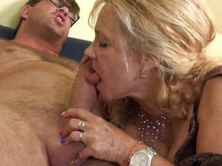 big blonde blowjob cock