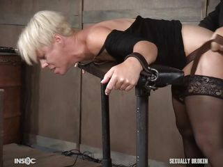 bdsm behind big blonde