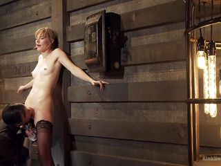babe bdsm blonde dildo
